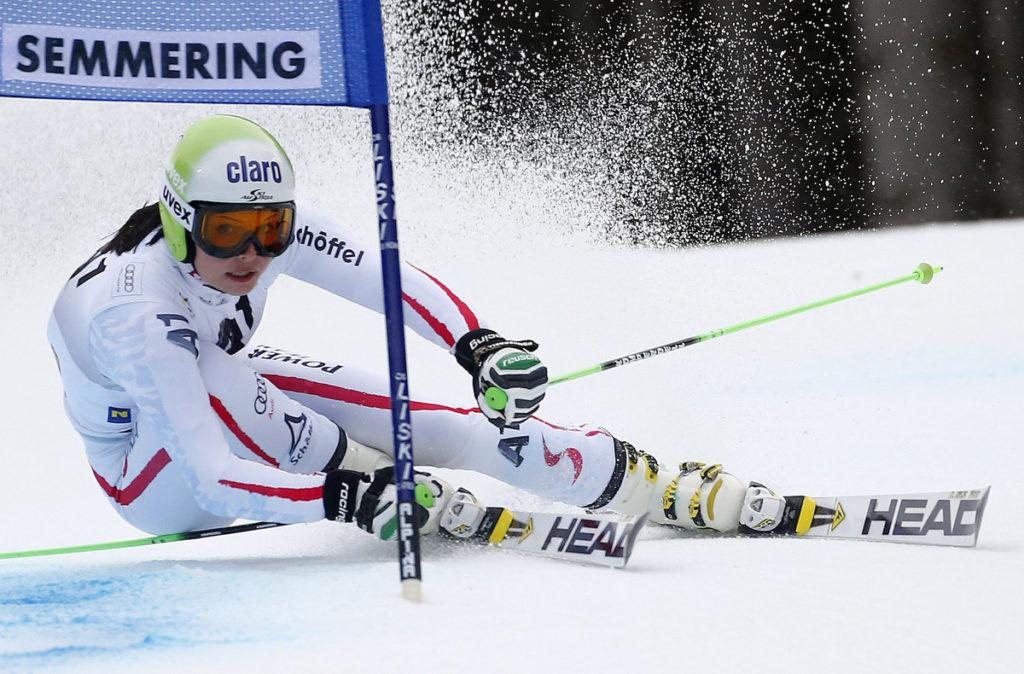 Anna Fenninger in Semmering. (Dominic Ebenbichler/Reuters)