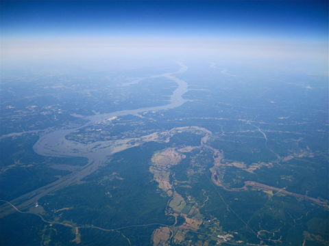 High Altitude View Tennessee River