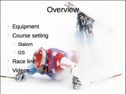 Alpine ski racing basics