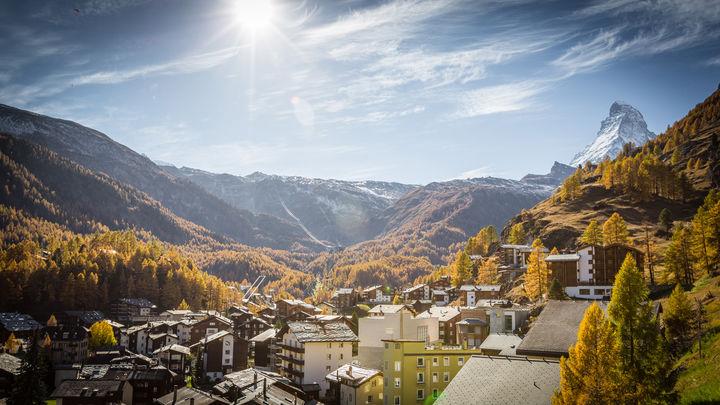 ski gap Autumn zermatt switzerland