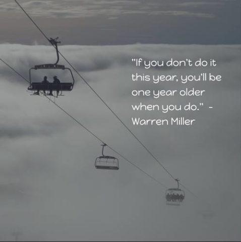 Warren Miller Quote Year ski instructor academy switzerland