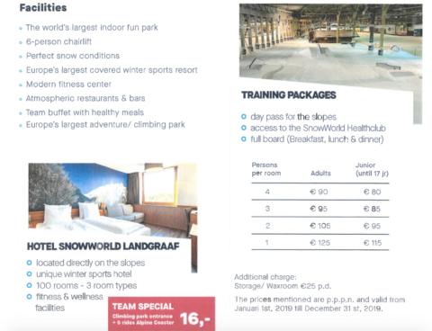 Landgraaf ski dome hotel price