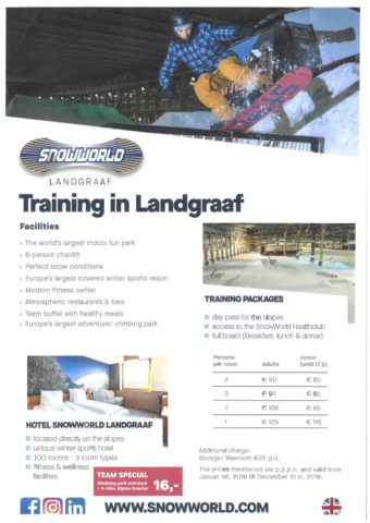 SnowWorld Freestyle Package, freestyle coaching certification