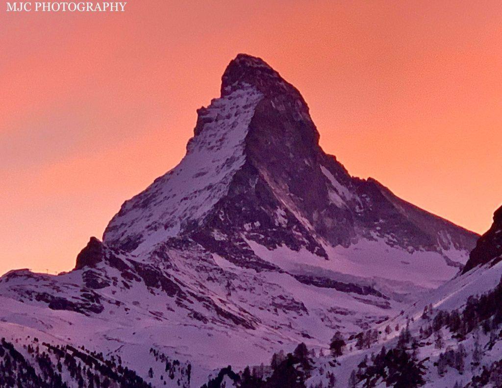 Matterhorn Sunset Zermatt Ikon Pass