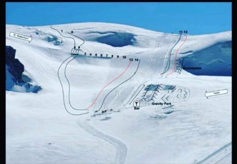 Klein Matterhorn Glacier, zermatt summer skiing